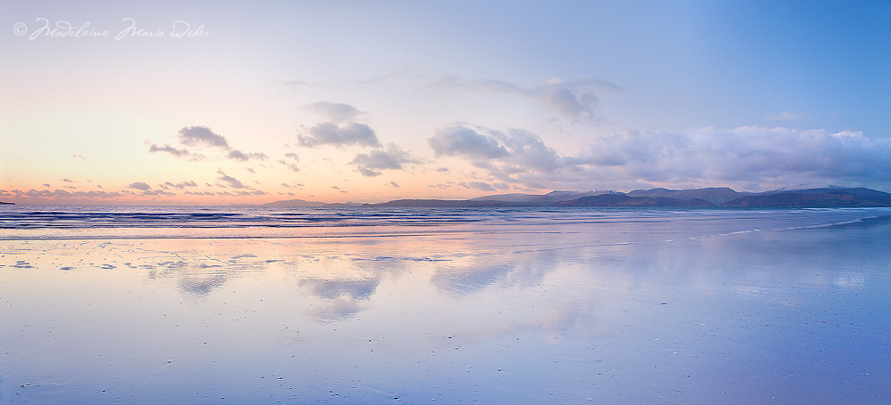 Sunset Panorama Rossbeigh Beach, County Kerry, Ireland / kr004
