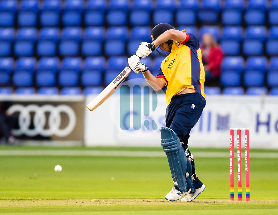 Tom Westley of Essex in action today <br /> Photographer Simon King/Replay Images<br /> <br /> Vitality Blast T20 - Round 8 - Glamorgan v Essex - Friday 9th August 2019 - Sophia Gardens - Cardiff<br /> <br /> World Copyright © Replay Images . All rights reserved. info@replayimages.co.uk - http://replayimages.co.uk