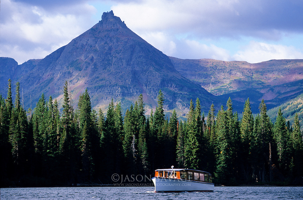 Boat at Two Medicine,Glacier National Park