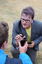 Latitude Festival, Henham Park, Suffolk, UK July 2019. Close up magician
