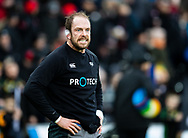 Alun Wyn Jones of Ospreys during the pre match warm up<br /> <br /> Photographer Simon King/Replay Images<br /> <br /> European Rugby Champions Cup Round 5 - Ospreys v Saracens - Saturday 11th January 2020 - Liberty Stadium - Swansea<br /> <br /> World Copyright © Replay Images . All rights reserved. info@replayimages.co.uk - http://replayimages.co.uk