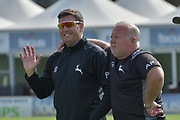 Paul Franks and Andy Pick  during the Specsavers County Champ Div 2 match between Sussex County Cricket Club and Nottinghamshire County Cricket Club at the 1st Central County Ground, Hove, United Kingdom on 28 September 2017. Photo by Simon Trafford.
