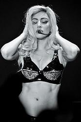 The singer Lady Gaga (Stefani Joanne Angelina Germanotta) being photo shooted during a concert. Turin, Italy. 9th November 2010 (Credit Image: © Francesco Prandoni/Mondadori Portfolio via ZUMA Press)