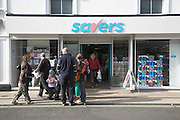 Savers discount shop, Felixstowe, Suffolk, England