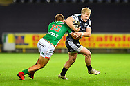 Aled Davies of Ospreys is tackled by Luca Sperandio of Benetton Treviso<br /> <br /> Photographer Craig Thomas/Replay Images<br /> <br /> Guinness PRO14 Round 4 - Ospreys v Benetton Treviso - Saturday 22nd September 2018 - Liberty Stadium - Swansea<br /> <br /> World Copyright © Replay Images . All rights reserved. info@replayimages.co.uk - http://replayimages.co.uk