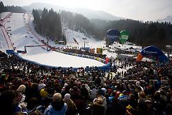 Spectators at 9th men's slalom race of Audi FIS Ski World Cup, Pokal Vitranc,  in Podkoren, Kranjska Gora, Slovenia, on March 1, 2009. (Photo by Vid Ponikvar / Sportida)