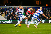 GOAL Brentford's Defender Henrik Dalsgaard scores during the EFL Sky Bet Championship match between Queens Park Rangers and Brentford at the Loftus Road Stadium, London, England on 10 November 2018.