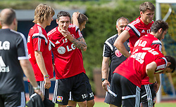 17.07.2014, Alois Latini Stadion, Zell am See, AUT, Bayer 04 Leverkusen Trainingslager, im Bild Roberto Hilbert (Bayer 04 Leverkusen) // Roberto Hilbert (Bayer 04 Leverkusen) during a Trainingssession of the German Bundesliga Club Bayer 04 Leverkusen at the Alois Latini Stadium, Zell am See, Austria on 2014/07/17. EXPA Pictures © 2014, PhotoCredit: EXPA/ JFK