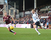 Dundee&rsquo;s Kevin Holt runs at Hearts&rsquo; Billy King - Hearts v Dundee - SPFL Premiership at Tynecastle<br /> <br />  - &copy; David Young - www.davidyoungphoto.co.uk - email: davidyoungphoto@gmail.com
