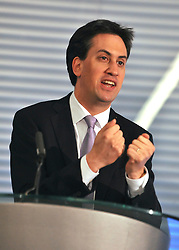 © Licensed to London News Pictures. 17/11/2011, London, UK. ED MILIBAND MP, Leader of the Labour Party and Leader of the Opposition, delivers a key-note speech to the Social Market Foundation's conference on building a new economy in Central London today, 17th November 2011.  Photo credit : Stephen Simpson/LNP
