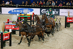Timmerman Theo (NED) - Boris, Bonusz, Oosterwijk's Kasper, Joep<br /> FEI World Cup For In Hand Driving<br /> Vlaanderens Kerst Jumping Mechelen 2013<br /> © Hippo Foto - Dirk Caremans