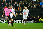 Northampton Towns JJ O'Toole during the The FA Cup Third Round Replay match between Milton Keynes Dons and Northampton Town at stadium:mk, Milton Keynes, England on 19 January 2016. Photo by Dennis Goodwin.