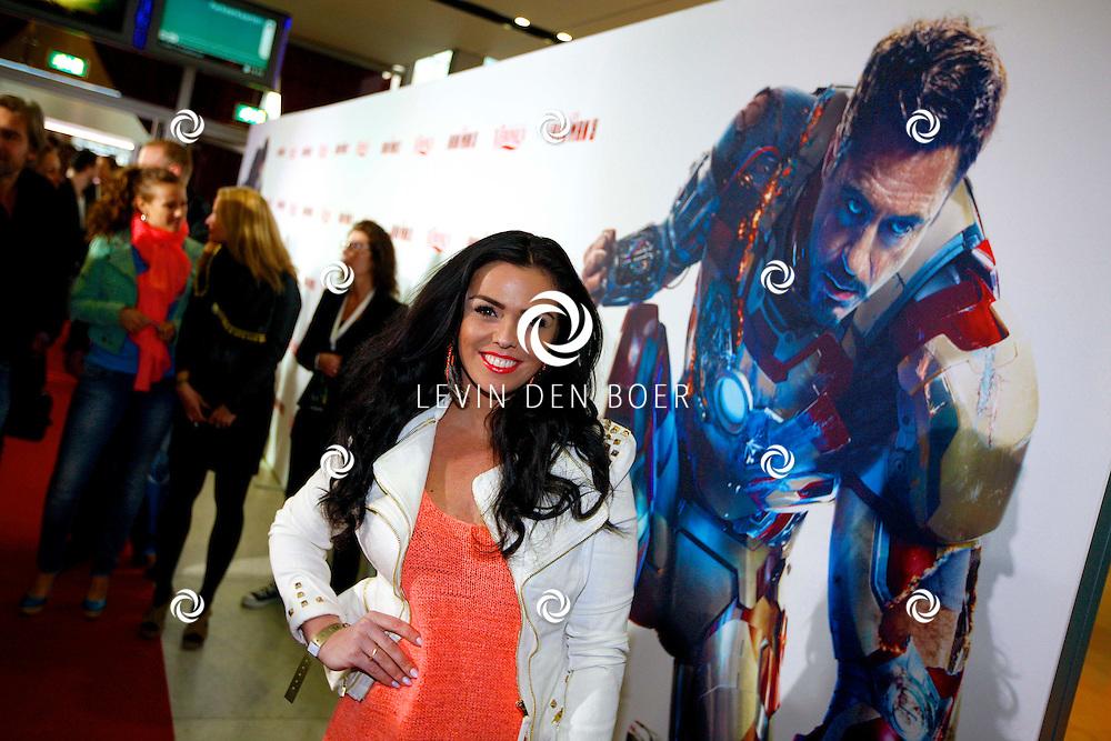 AMSTERDAM - In het Rai theater is de filmpremiere van Iron Man 3. Met op de foto  Laura Ponticorvo. FOTO LEVIN DEN BOER - PERSFOTO.NU