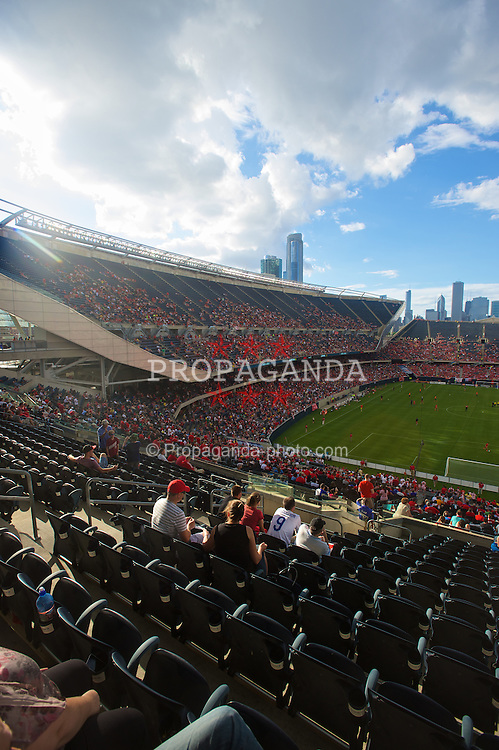 CHICAGO, USA - Sunday, July 27, 2014: 30,170 supporters watch Liverpool take on Olympiacos during the International Champions Cup Group B match at the Soldier Field Stadium on day seven of the club's USA Tour. (Pic by David Rawcliffe/Propaganda)
