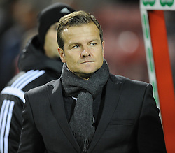 Swindon Town Manager, Mark Cooper - Photo mandatory by-line: Alex James/JMP - Mobile: 07966 386802 - 04/11/2014 - SPORT - Football - Swindon - County Ground - Swindon Town v Preston North End - Sky Bet League One