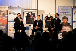Mark Stevens, Nic White and Jack Nowell at the annual Exeter Chiefs Foundation Christmas Dinner at Sandy Park - Ryan Hiscott/JMP - 07/12/2018 - RUGBY - Sandy Park - Exeter, England - Exeter Chiefs Foundation Christmas Dinner with David Flatman