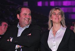 20.11.2011, Stadthalle, Wien, AUT, Jubilaeumsshow, 100 Jahre Fußballklub Austria Wien, im Bild Josef Pröll mit Gattin Gabi, EXPA Pictures © 2011, PhotoCredit: EXPA/ M. Gruber