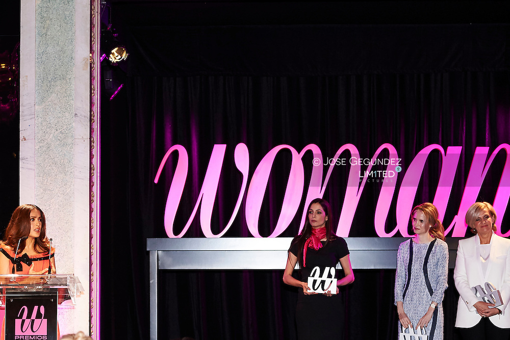 Mexican Actress Salma Hayek Pinault attended the Delivery of  'Awards Woman Magazine' by Grupo Zeta at Casino on April 20, 2015 in Madrid