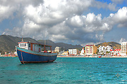 Phillipsburg, St. Maarten as seen from the city's famous water taxi.