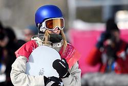 February 19, 2018 - Pyeongchang, SOUTH KOREA - 180219 Anna Gasser of Austria competes in the Women's Big Air Qualification during day ten of the 2018 Winter Olympics on February 19, 2018 in Pyeongchang..Photo: Carl Sandin / BILDBYRN / kod CS / 57999_306 (Credit Image: © Carl Sandin/Bildbyran via ZUMA Press)