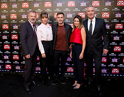 (left to right) Graham Norton, Mel Giedroyc, Gary Barlow, Dannii Minogue and Martin Kemp attend the launch of the new BBC One Saturday night entertainment show, Let it Shine, at the Ham Yard Hotel, London.