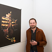 23.03.16<br /> LSAD are delighted to host SYMBOLS: Culture of Death and Cultural Life, a Creative Europe Project under the European Commission. <br /> <br /> Attending the exhibition was exhibiting artist, Victor Jakubowski with his piece Leading Actress.<br /> <br /> LSAD are one of the seven partners in this Creative Europe project which is running from 2014-2016. This exhibition will feature work from international printmakers, dancers and musicians from 7 European countries. This show embraces not only the work created by these artists during two residencies responding to the theme of symbols, one in Aviles, Spain and one in Dundee Scotland and includes work by Limerick artists, musicians and dancers, Gemma Dardis, Mary O'Dea, Jennifer Brown and Hannah Fahey, but also offers a response by the students of the printmaking department in LSAD to the historic Limerick cemeteries of Mount St. Lawrence and St. John's. The students created an exciting and thought provoking body of work which is showing along side these international artists. Picture: Alan Place/Fusionshooters