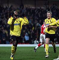 Photo: Mark Stephenson/Richard Lane Photography.<br /> Watford v Charlton Althetic. Coca Cola Championship. 19/01/2008. Watford's Nathan Ellington celebrates his goal for 1-0