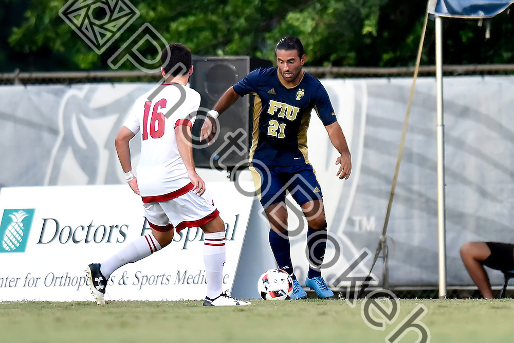 2016 September 02 - FIU's Nicholas Midttun (21). <br /> Florida International University defeated Wisconsin, 1-0, Miami, Florida. (Photo by: Alex J. Hernandez / photobokeh.com) This image is copyright by PhotoBokeh.com and may not be reproduced or retransmitted without express written consent of PhotoBokeh.com. &copy;2016 PhotoBokeh.com - All Rights Reserved