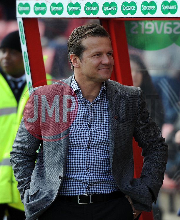 Swindon Town Manager, Mark Cooper - Photo mandatory by-line: Paul Knight/JMP - Mobile: 07966 386802 - 11/04/2015 - SPORT - Football - Swindon - The County Ground - Swindon Town v Peterborough United - Sky Bet League One