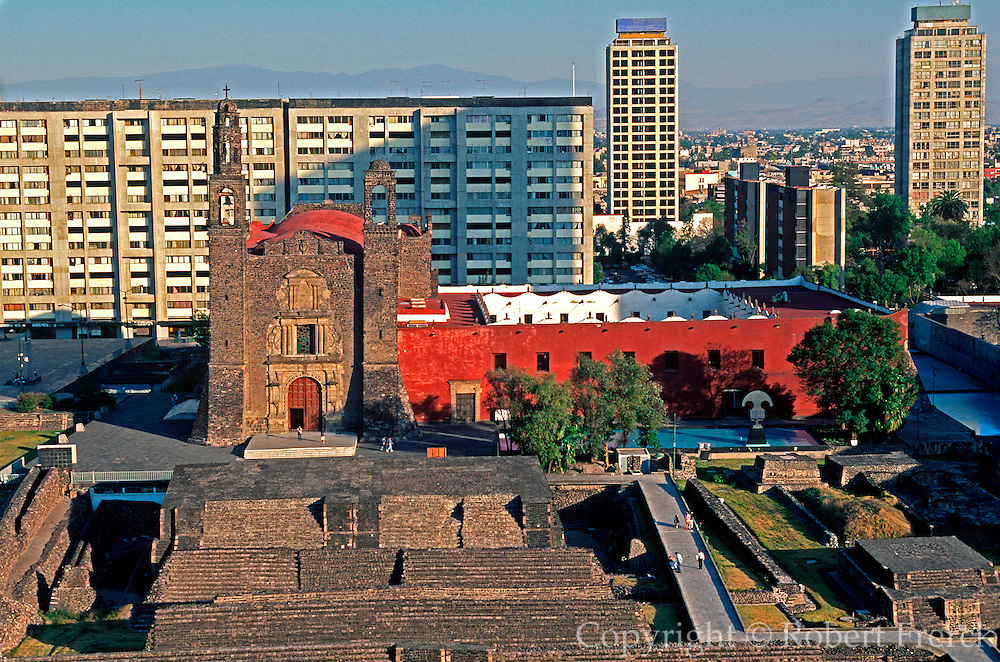 MEXICO, MEXICO CITY, AZTEC Plaza of the Three Cultures