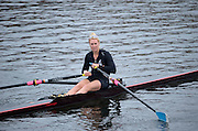 Cambridge. MA. USA. pre 2013 Head of the Charles Publicity for Mini. Red Mini racing  Multi Silver Medalist NZL W1X Emma TWIGG on the Charles River in front of the Cambridge Boathouse.<br /> <br /> <br />  <br /> Thursday  17/10/2013 <br /> <br /> [Mandatory Credit. Peter SPURRIER /Intersport Images]