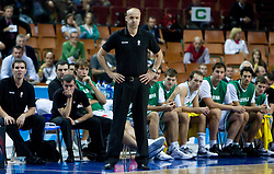 Head coach of Slovenia Jure Zdovc during the EuroBasket 2009 Quaterfinals match between Slovenia and Croatia, on September 18, 2009, in Arena Spodek, Katowice, Poland.  (Photo by Vid Ponikvar / Sportida)