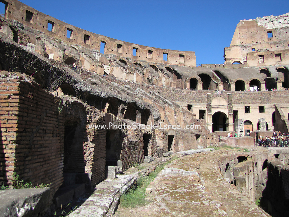 Italy, Rome, Interior of The Colosseum