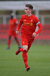 BURTON-UPON-TRENT, ENGLAND - Saturday, December 3, 2016: Liverpool's Harry Wilson in action against Leicester City during the Premier League International Cup match at St. George's Park. (Pic by David Rawcliffe/Propaganda)