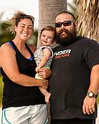 The family on Sombrero Beach in Marathon, FL.