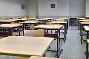 Nederland, Doetinchem, 28-11-2018Een lege klas in een middelbare school. Foto: Flip Franssen