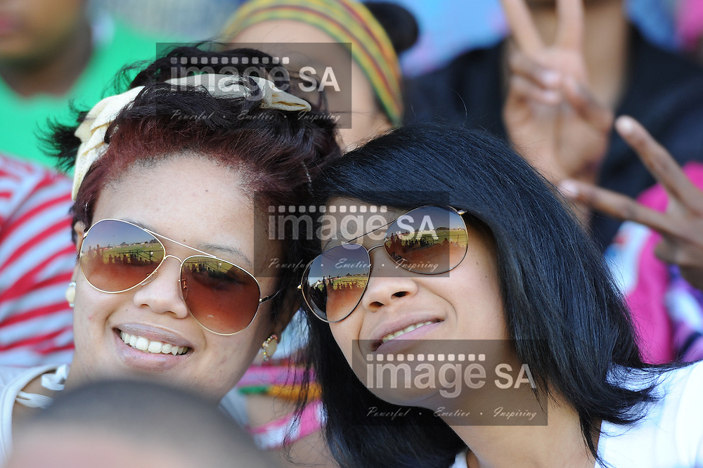 GEORGE, SOUTH AFRICA - SATURDAY MARCH 2 2013,  spectators in the grand stand during match 23 of the Cell C Community Cup rugby match between Evergreens and Brakpan held at the Pacaltsdorp Sports Ground..Photo by Roger Sedres/ImageSA