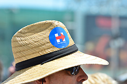 Presumptive Democratic nominee Hillary Clinton attends a July 7th, 2016 rally at the Boardwalk of Atlantic City, New Jersey.