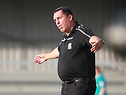 Barnet Manager Martin Allen in comedy mode during the Sky Bet League 2 match between Barnet and Exeter City at The Hive Stadium, London, England on 31 October 2015. Photo by Bennett Dean.