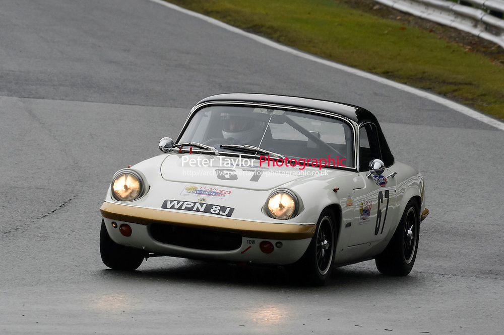 #67 Jon Crayston Lotus Elan S4 1600 during the CSCC Adams and Page Swinging Sixties at Oulton Park, Little Budworth, Cheshire, United Kingdom. October 15 2016. World Copyright Peter Taylor/PSP. <br /> Copy of publication required for printed pictures.  Every used picture is fee-liable. http://archive.petertaylor-photographic.co.uk