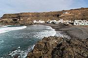 Fishing village of Los Molinos, west coast of Fuerteventura, Canary Islands, Spain