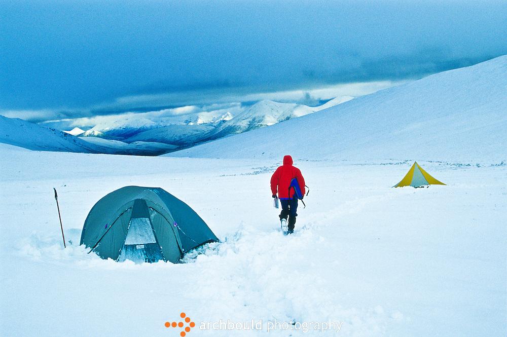 Surprise July snowfall at Mt. Hoge, Kluane National Park.