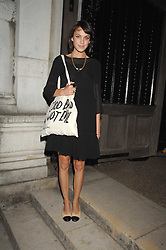 Alexa Chung at the Moet Mirage Evening at Holland Park Opera House, London W8 on 16th September 2007.<br />