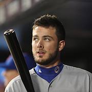 Kris Bryant, Chicago Cubs, in the dugout during the MLB NLCS Playoffs game two, Chicago Cubs vs New York Mets at Citi Field, Queens, New York. USA. 18th October 2015. Photo Tim Clayton