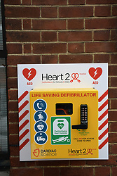 Defibrillator, Norwich UK Aug 2019