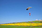 Israel, Mediterranean coast paragliding