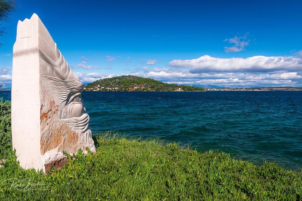 Poseidon statue, Ugljan Island, Dalmatian Coast, Croatia