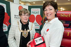 "Lord Mayor of Sheffield Councillor Dr Sylvia Dunkley & British Lung Foundation Support & Development Manager help to launch of the ""Winning The Fight For Breath  with COPD Campaign"" in Meadowhall Shopping Centre Sheffield on Saturday 18th February 2012..www.pauldaviddrabble.co.uk..18th February 2012 -  Image © Paul David Drabble"
