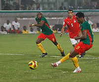 Photo: Steve Bond/Richard Lane Photography.<br /> Egypt v Cameroun. Africa Cup of Nations. 22/01/2008. Samuel Eto'o nets a consolation penalty