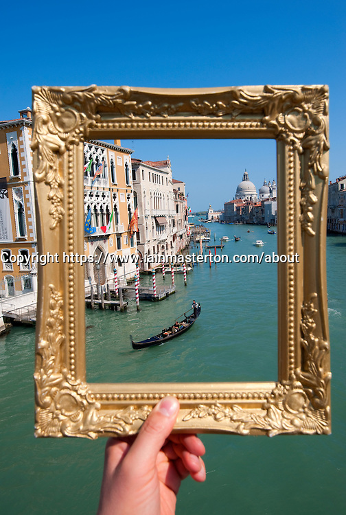 Grand Canal in Venice framed